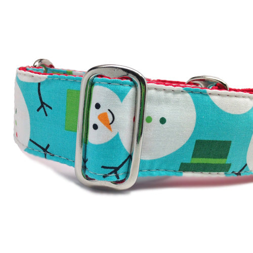 Buckle Dog Collar Holiday Snowmen | Classic Hound Collar Co.