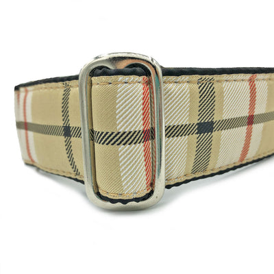 Unlined Furberry Plaid Buckle or Martingale