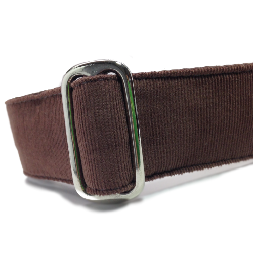 Corduroy Chocolate Brown Buckle