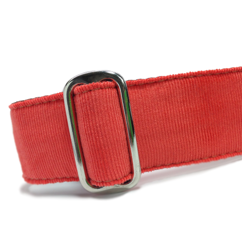 Corduroy Persimmon Red Buckle