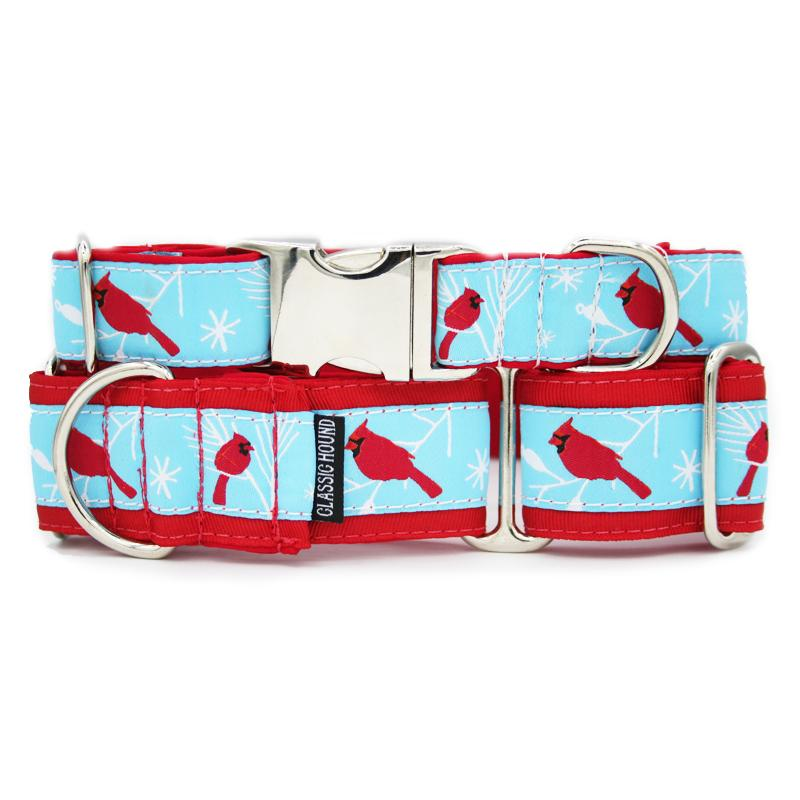 Unlined Cardinals Tag Collar