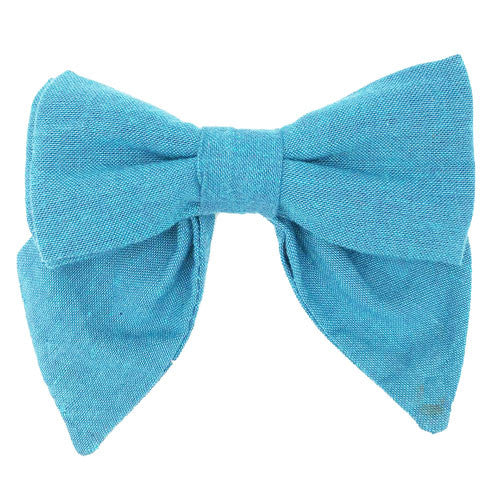 Collar Bow - Chambray Aquamarine