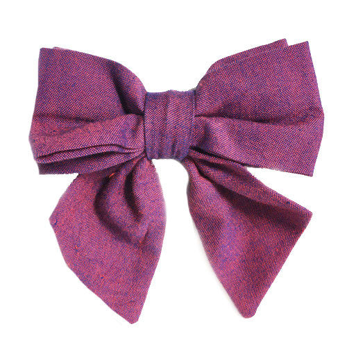 Collar Bow - Chambray Boysenberry