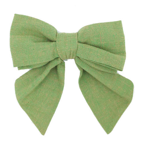 Collar Bow - Chambray Kiwi