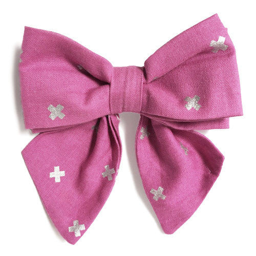 Collar Bow - Metallic XOXO