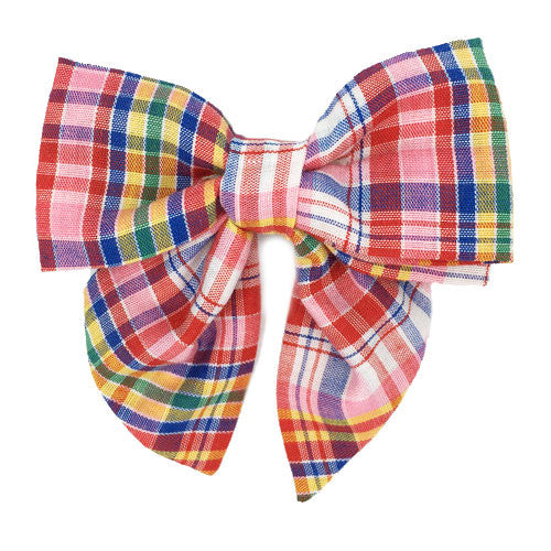 Collar Bow - Plaid Preppy