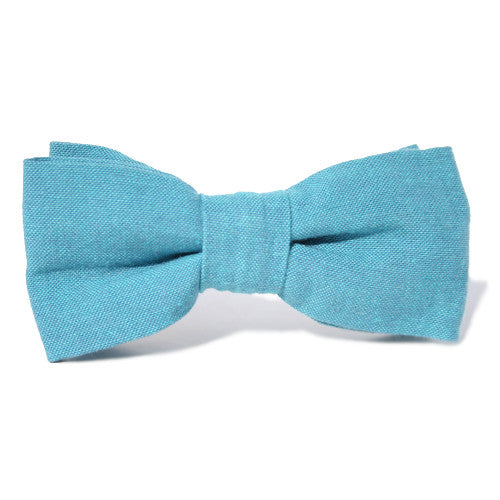 Bow Tie - Chambray Aquamarine