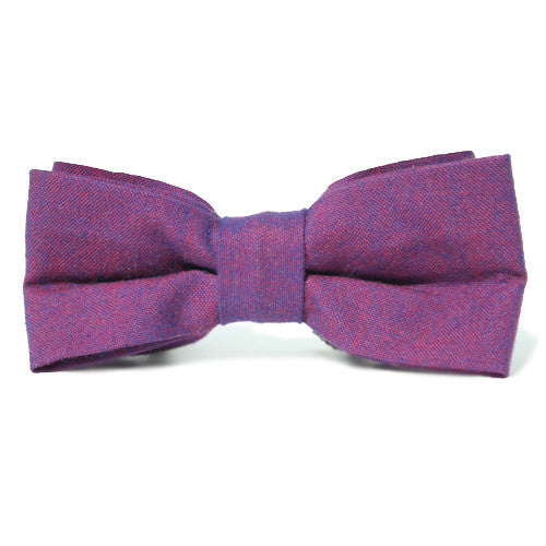 Dog Bow Tie Chambray Boysenberry | Classic Hound Collar Co.