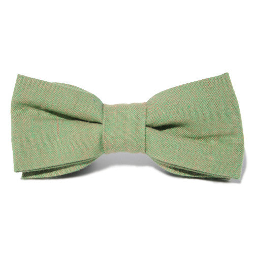 Dog Bow Tie Chambray Kiwi | Classic Hound Collar Co.