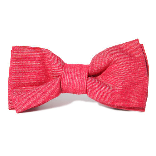 Dog Bow Tie Chambray Red | Classic Hound Collar Co.
