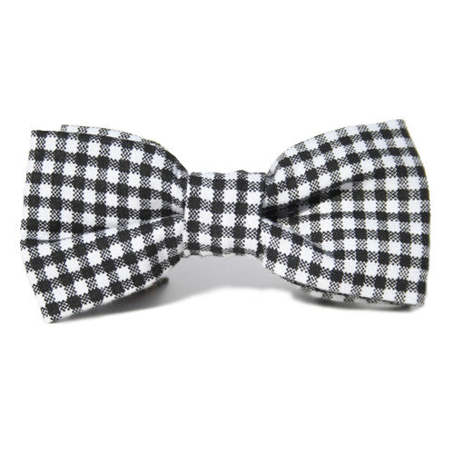 Dog Bow Tie Gingham Black | Classic Hound Collar Co.