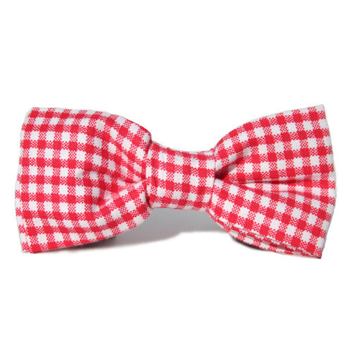 Dog Bow Tie Gingham Red | Classic Hound Collar Co.