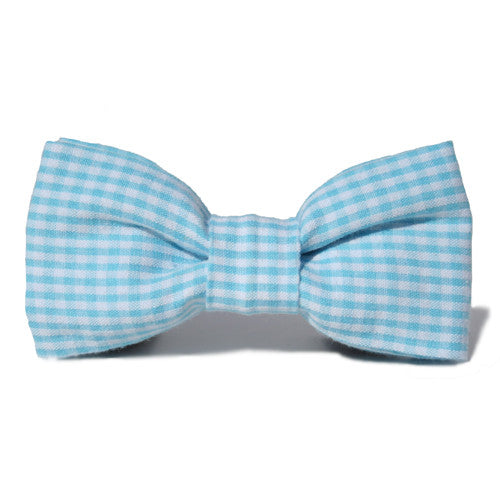 Dog Bow Tie Seersucker Sky Blue | Classic Hound Collar Co.