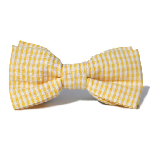 Dog Bow Tie Seersucker Yellow | Classic Hound Collar Co.