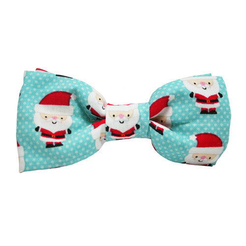 Dog Bow Tie Santa Baby Blue | Classic Hound Collar Co.