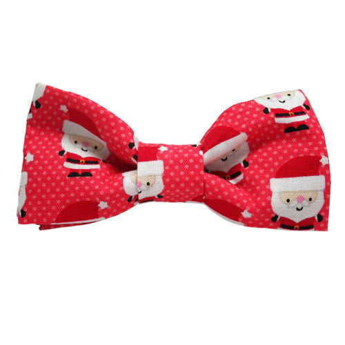Dog Bow Tie Santa Baby Red | Classic Hound Collar Co.