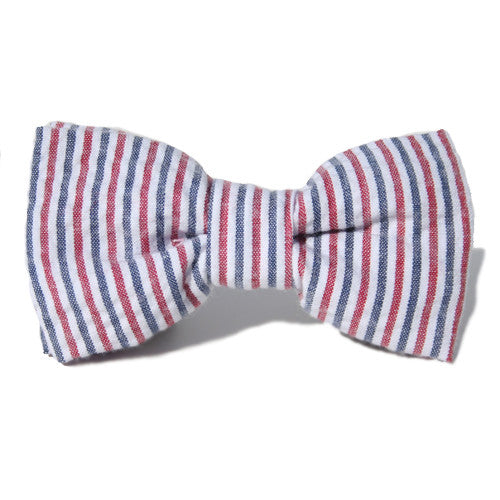 Dog Bow Tie Seersucker Patriotic | Classic Hound Collar Co.