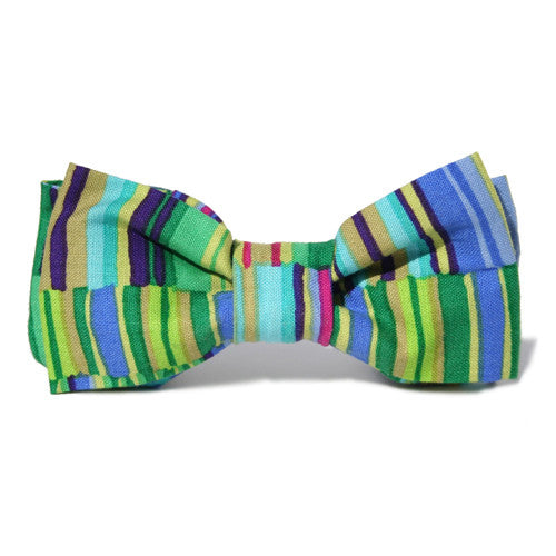 Dog Bow Tie Stripes Bright | Classic Hound Collar Co.