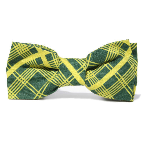 Dog Bow Tie Tartan Lime | Classic Hound Collar Co.
