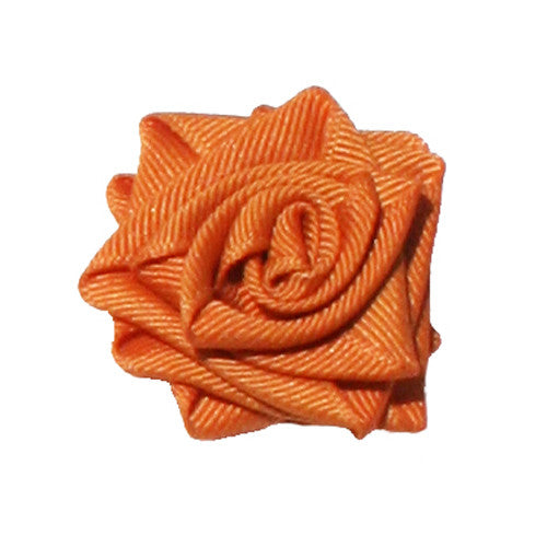 Ginger Orange Dog Collar Rose Accessory by Classic Hound Collar Co.