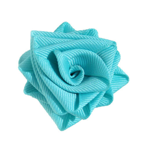 Collar Rose Turquoise Blue