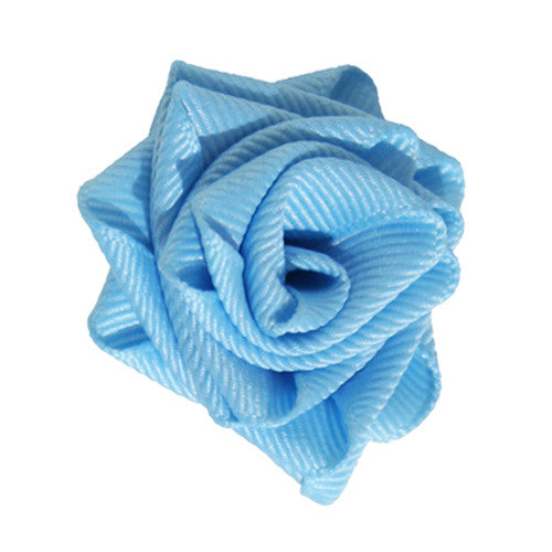 Sky Blue Dog Collar Rose Accessory by Classic Hound Collar Co.