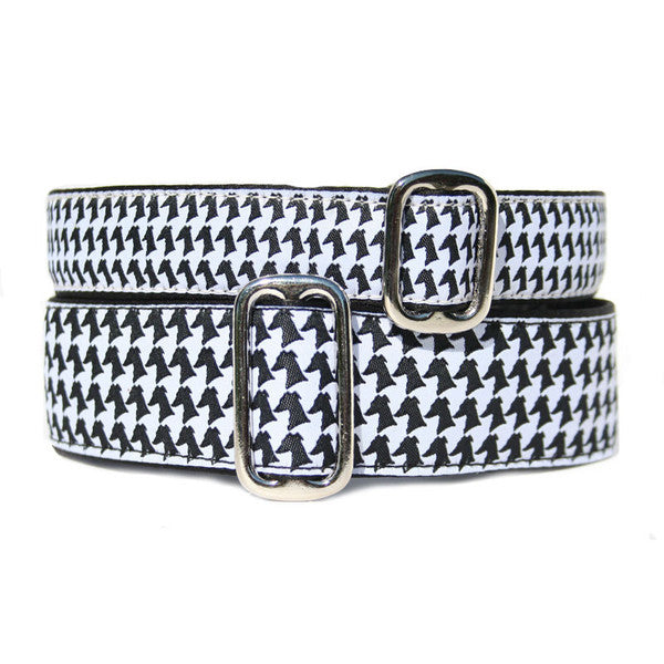 Satin-Lined Houndstooth Hound Martingale