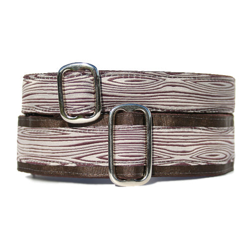Unlined Woodgrain Buckle or Martingale