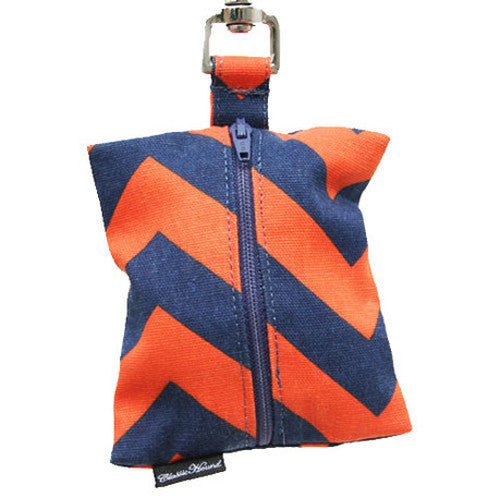 Chevron Navy & Orange Leash Bag