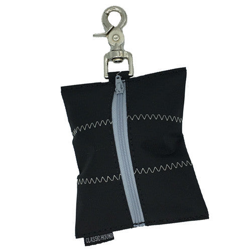 Leash Bag - Sailcloth Black
