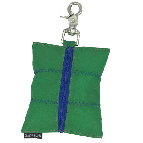 Sailcloth Green Leash Bag