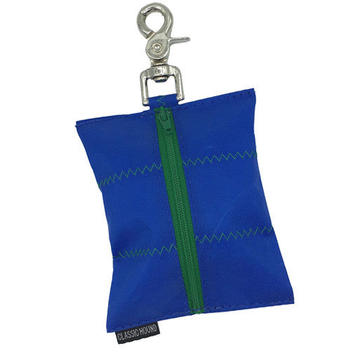 Leash Bag - Sailcloth Nautical + Green
