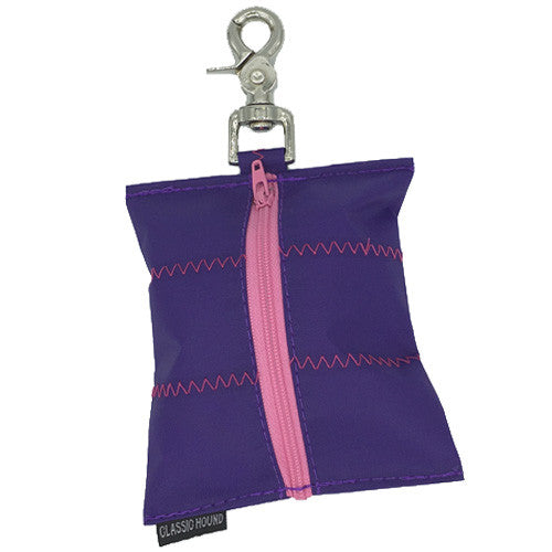 Leash Bag - Sailcloth Purple + Pink