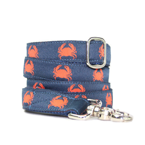 Dog Leash - Crabby Navy + Orange
