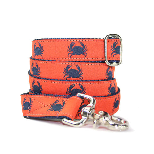Dog Leash - Crabby Orange + Navy
