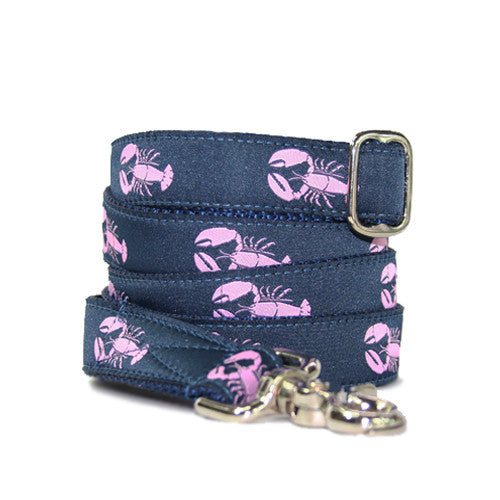 Dog Leash - Lobster Navy + Pink