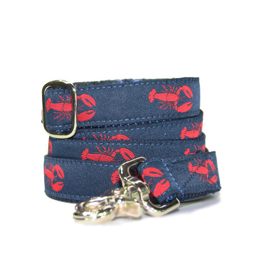 Dog Leash - Lobster Navy + Red