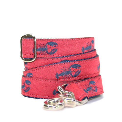 Dog Leash - Lobster Red + Navy