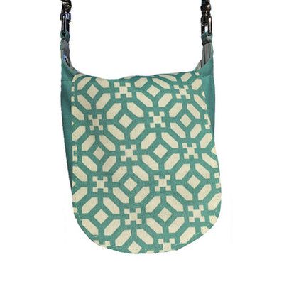 Double Duty Bag - Teal Trellis
