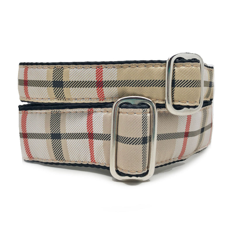 Satin-Lined Furberry Plaid Martingale