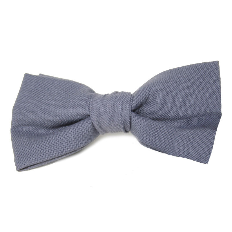 Dog Bow Tie Solid Grey | Classic Hound Collar Co.