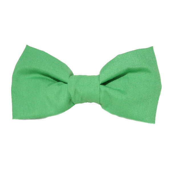 Dog Bow Tie Solid Green | Classic Hound Collar Co.