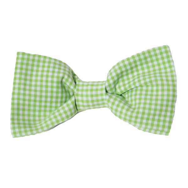 Dog Bow Tie Gingham Green | Classic Hound Collar Co.