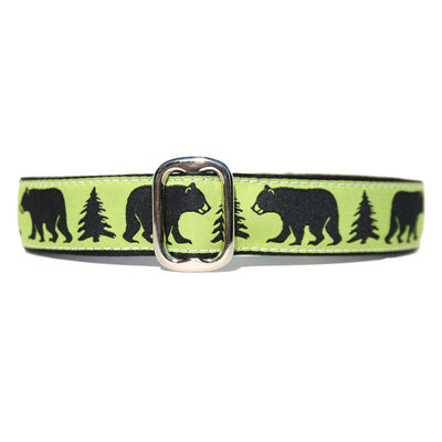 "1"" Unlined Black Bear Tag Collar"