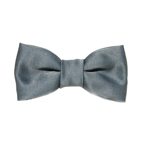 Dog Bow Tie Satin Grey | Classic Hound Collar Co.