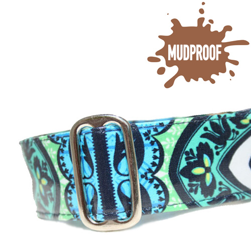 Mudproof Teal Garden Martingale