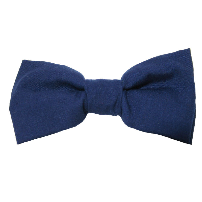 Dog Bow Tie Solid Navy | Classic Hound Collar Co.