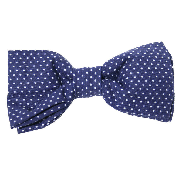 Dog Bow Tie Pin Dot Navy | Classic Hound Collar Co.