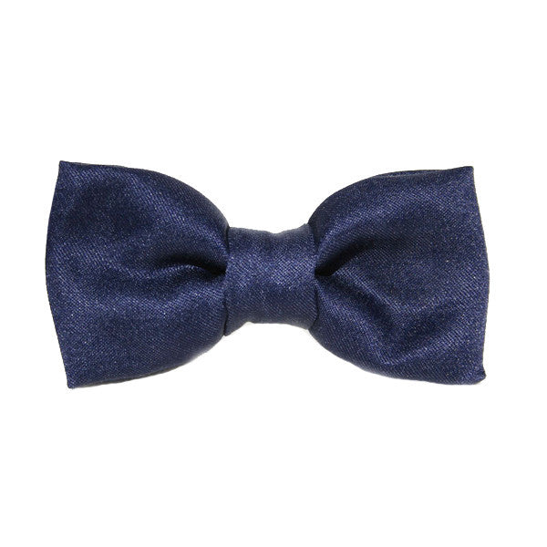 Dog Bow Tie Satin Navy | Classic Hound Collar Co.