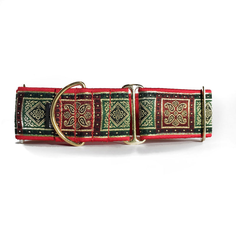 "2"" Satin-Lined Noel Blocks Martingale"